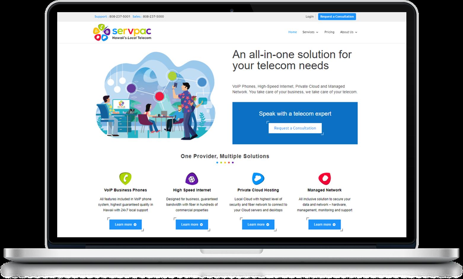 Servpac Website Design