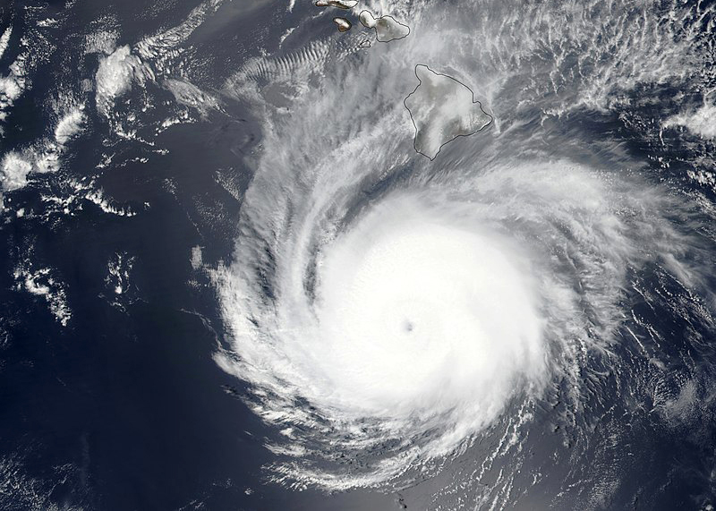Hurricane Hector in August 2018